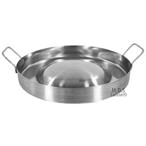 Stainless Steel Comal Convex 16 Round Cook Griddle Taco Grill Pan Heavy Duty
