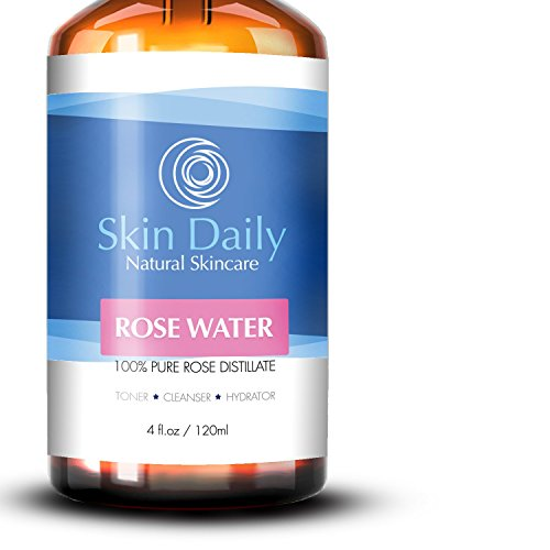 Skin Daily Rose Water Pure - Rosewater Toner Spray for Face (4 fl oz)