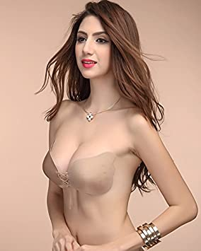 GFEI Mama de silicona sujetador invisible para recoger pasta vestido de novia sin tirantes ropa interior