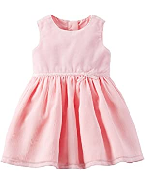 Carters Baby Girl Pink Velveteen Dress
