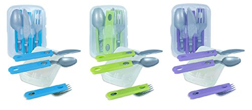 Plastic Cutlery Travel Combo Colors