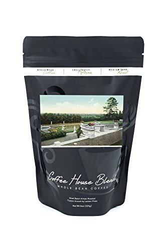 Saratoga Springs, New York - View from the Yaddo Rose Garden Terrace (8oz Whole Bean Small Batch Artisan Coffee - Bold & Strong Medium Dark Roast w/ Artwork) Rose Terrace