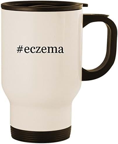 #eczema - Stainless Steel 14oz Road Ready Travel Mug, White