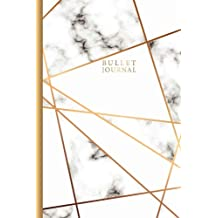 Bullet Journal: Marble Gold Designer, 120 Pages Dot Grid Notebook 6 X 9, Blank Dot Grid Journal  for Diary, Planner, Calligraphy, Self-Help Journal Writing, Creativity, Dot Grid Journal for Women (Dot Grid Bullet Journal) (Volume 4)