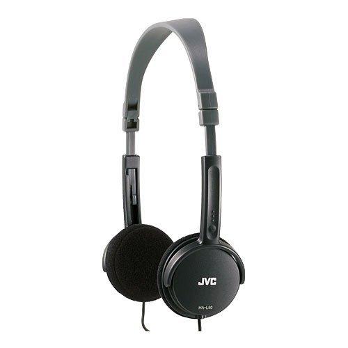 JVC HA-L50B BLACK Foldable Lightweight Stylish Headphones HA