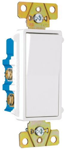 Pass & Seymour TM874WCC6 Four-Way Decorator Switch 15-Amp 120/277-Volt, Grounding, (Pass & Seymour 4 Way)