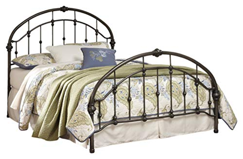 Bedroom Vintage Footboard - Ashley Furniture Signature Design - Nashburg Metal Headboard and Footboard with Rails - King Size - Component Piece - Vintage Casual - Bronze Finish