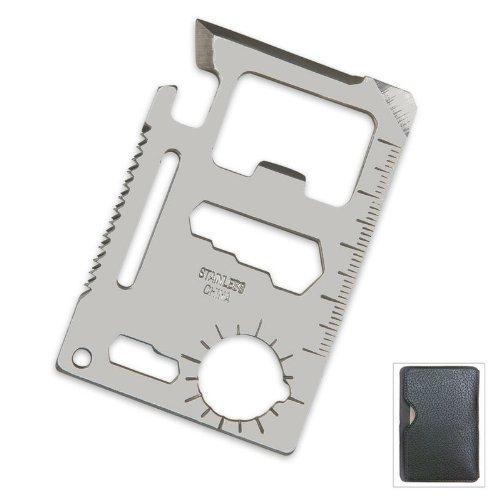 Multi-Purpose Credit Card Survival Aid Ranger Tool with 12 Unique Features