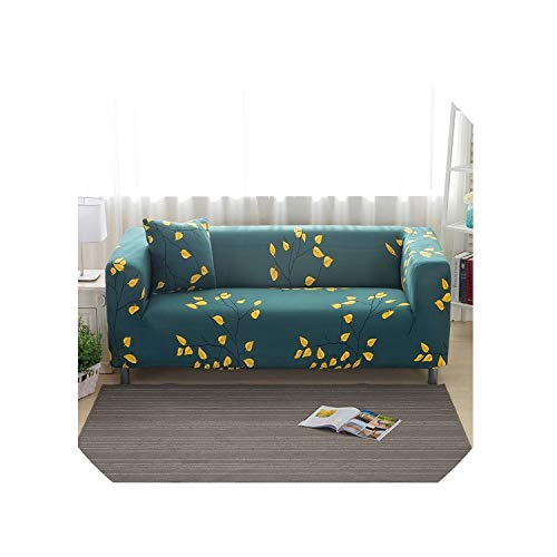 Flower Sofa Cover Flexible Stretch Big Elasticity Couch Cover Sofa Furniture Cover Single Two Three Four Seater Sofa Slipcover,Model 6,1 Seat (90-140Cm)