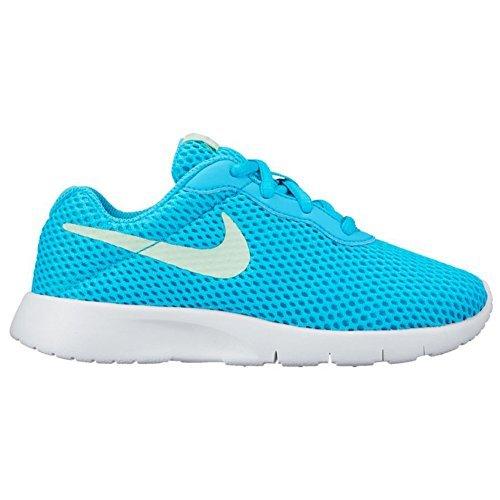 New Nike Girl's Tanjun BR Sneaker Chlorine Blue/White 12