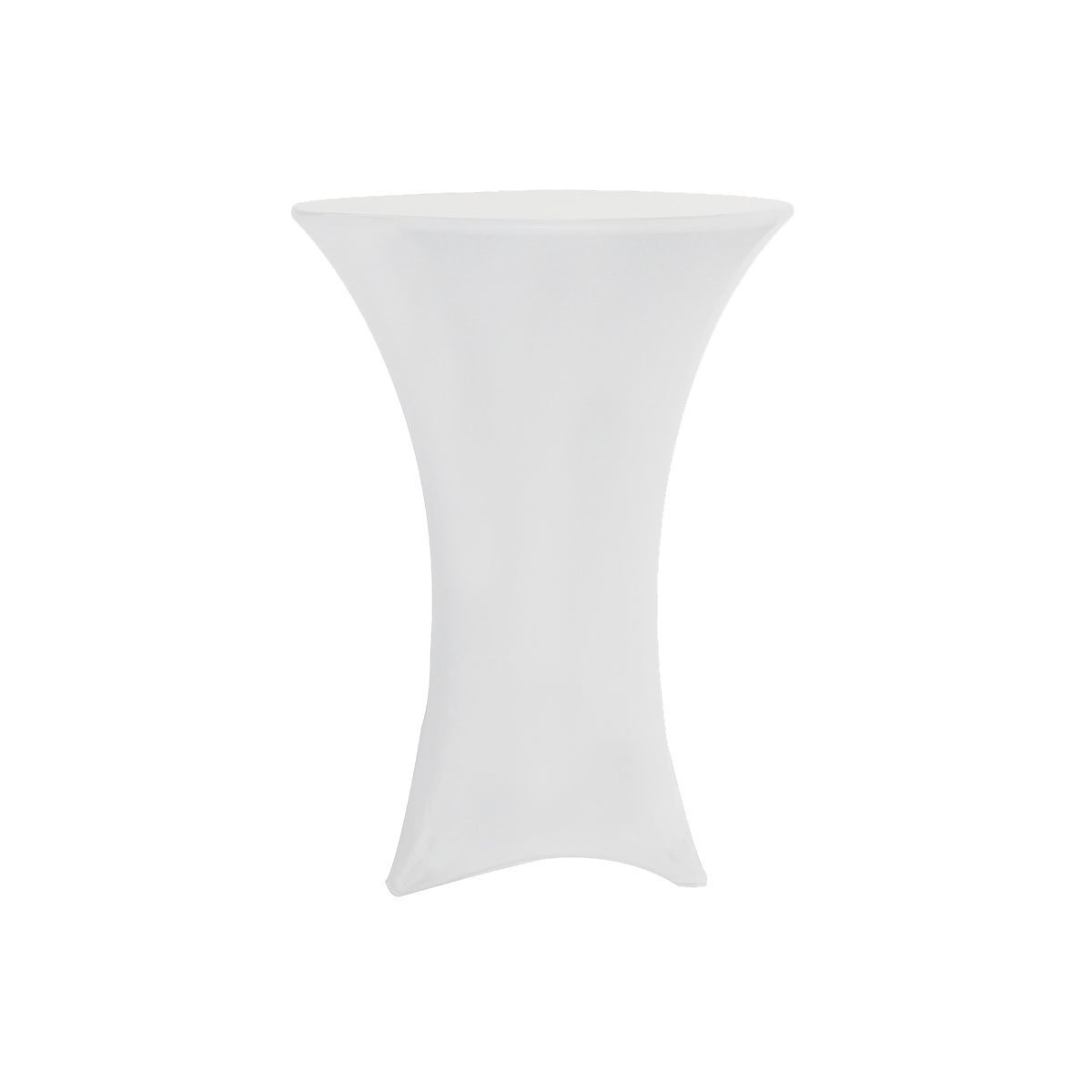 Reliancer 2 Pack 30inch Highboy Cocktail Round Spandex Table Cover Four-way Tight Fitted Stretch Tablecloth Table Cloth Outdoor Party DJ Tradeshows Banquet Vendors Weddings(White, 30''X42'')