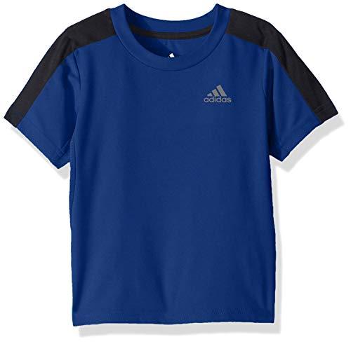 Sleeve Training Top Short (adidas Boys' Toddler Short Sleeve Logo Tee Shirt, Training Dark Royal, 2T)
