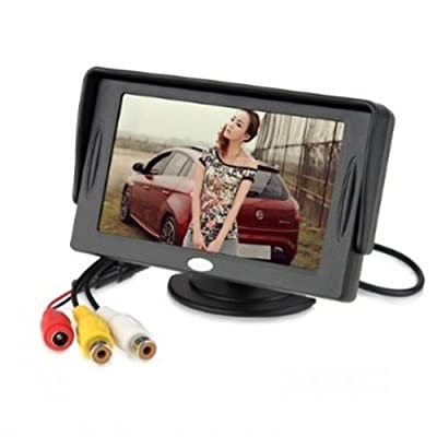 """I-Max 4.3"""" TFT Car Auto LCD Screen Rear Monitor Auto Adjust Brightness Car Rear View Mirror Monitor of General Parking Assist System from The Rear View Camera Center"""