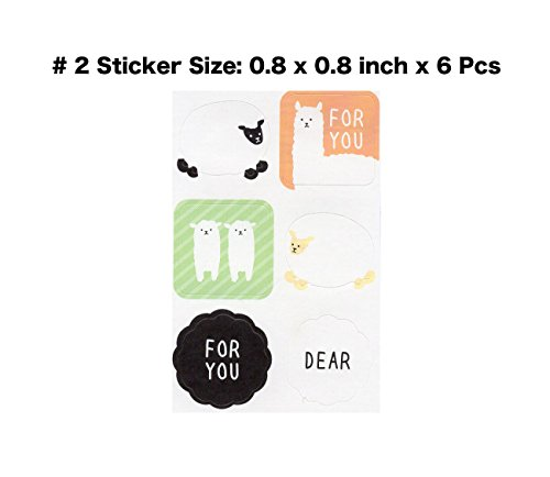 Cute Kawaii Japanese School Supplies Sheep Alpaca Animal Envelope and Stickers Letter Writing Stationery for Kids