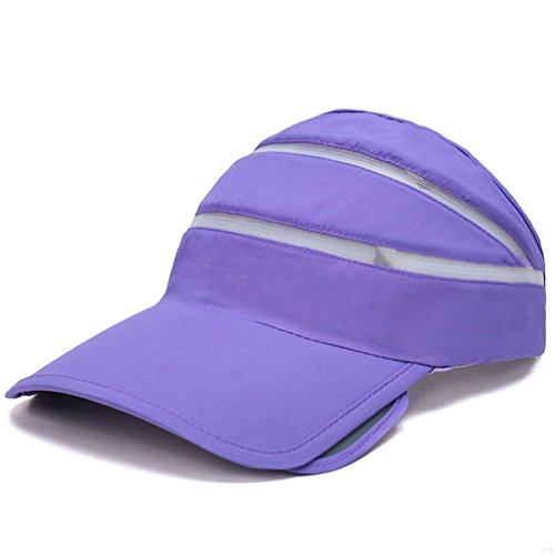 TJBGADIEMS Quick Dry Lightweight Soft Comfortable Visor Cap Blank Sun Caps Sports Empty Top Baseball Hat in Many Different Colors and Style(Purple)