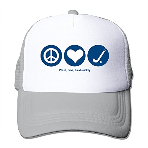 Men's Peace Love Field Hockey Mesh Back Cap