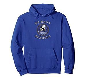 US Navy Seabee Hoodie U.S. Seabees Veteran Gift from Proud American Military Apparel