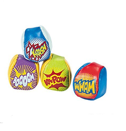 Fun Express Vinyl Action-Packed Superhero Kick Balls - 12 Pieces -