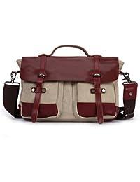 Canvas Mens'Casual Satchel Bag Crossbody Bag Shoulder Bag Book Bag School Bag