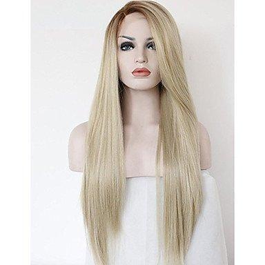 De la Mujer sintético Lace Front Peluca 20 – 40 pulgadas recta Ombre de pelo natural