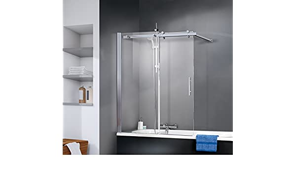 Schulte 4004514185907 Pare deslizante, mampara de bañera vidrio ...