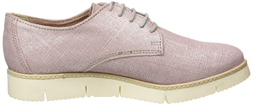 Marco Tozzi Premio, Zapatos de cordones para mujer Rosa (Rose Metallic 952)