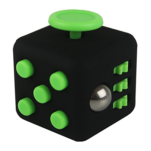 Weemboo Fidget Cube Relieves Stress And Anxiety Attention Toy For Work  Class  Home  Black Green