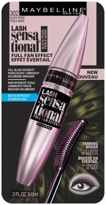 e8298b70dcb Amazon.com : Maybelline Lash Sensational Waterproof Mascara, Black Pearl  0.3 oz (Pack of 2) : Beauty
