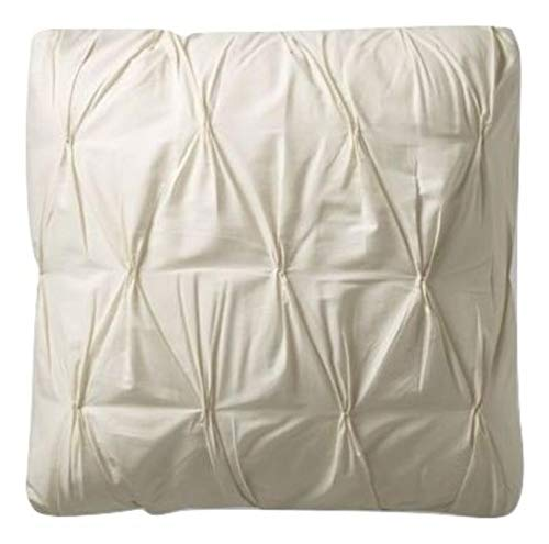 SplendidHome Set of 2 Pinch Pleat Pintuck Decorative Pillow Covers/Cases/Shams Cotton Sateen King 20 inch x 40 inch, Ivory