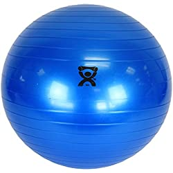 """CanDo Non-Slip Vinyl Inflatable Exercise Ball, Blue, 11.8"""""""