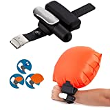Göksu Portable Wearable Safety Inflatable Rescue Device - Wristband Lightweight Float Water Buoyancy Aid for Kids & Kingii Adults Swimmer Drowning (Black)