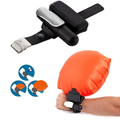 Rescue Devices - Göksu Portable Wearable Safety Inflatable Rescue Device - Wristband Lightweight Float Water Buoyancy Aid for Kids & Kingii Adults Swimmer Drowning (Black)