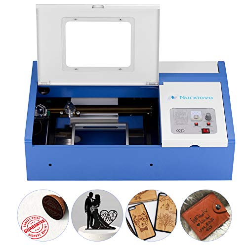 Laser Cutter-SUNCOO K40 Laser Engraver DIY Engraving Machine for Wood, Glass, Acrylic 40W CO2 with USB Port Only for Windows System 12x8 Inch (Blue)