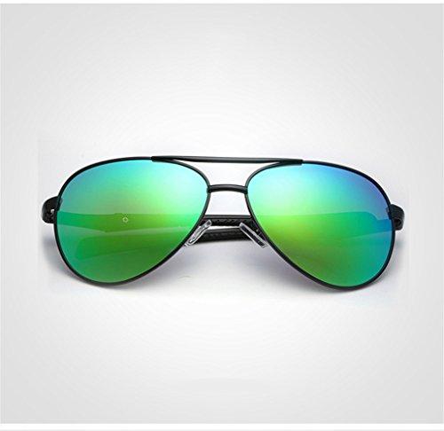 marco gafas personalidad los grandes del la de forman las montan de libre de Las de de gafas las del negro aire marco polarizadas verde al m Lente hombres sol UV de prueba lente marco que de gafas manera sol RFVBNM sol a la ZOCqw54