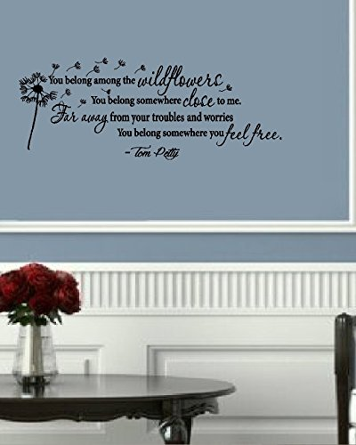 (BestPricedDecals You Belong Among The Wildflowers: Wall Decal, Song: 13
