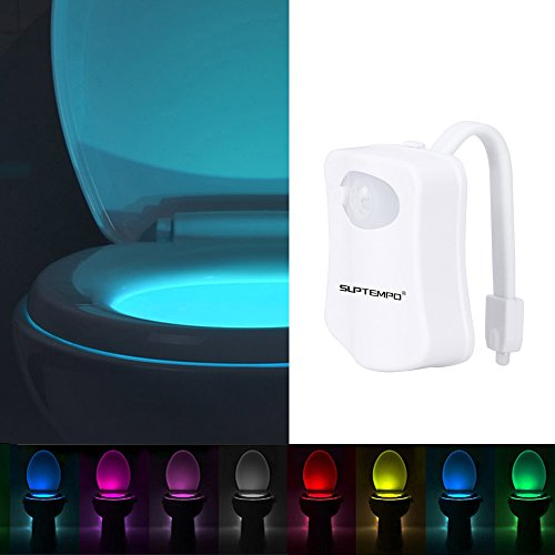 Toilet Night Light, Smart Motion Activated Night LED Light with 8 Color Changing