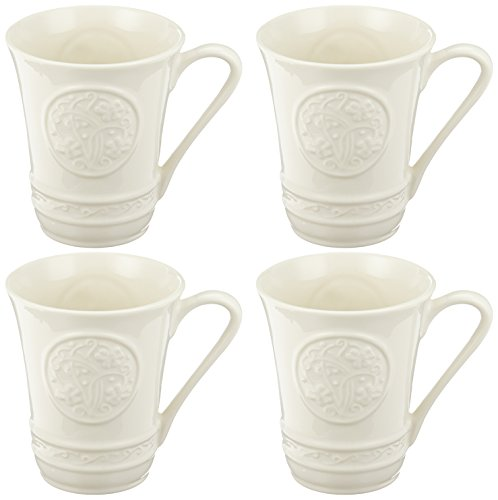 Belleek Pottery 4393 Irish Craft Mugs, 10-Ounce, White,