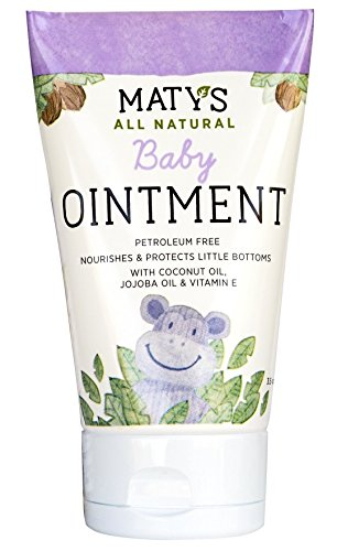 Natural Diaper Rash Cream (Maty's All Natural Baby Ointment, 3.5 oz., Petroleum Free, Safe for Cloth Diapers, Natural Alternative to Petroleum-Based Diaper Rash Creams, Safe For Sensitive Skin, Chemical & Fragrance Free)