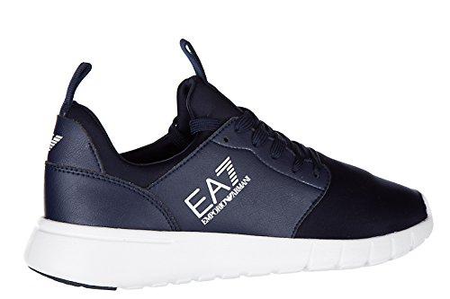 Emporio Armani EA7 Damenschuhe Damen Schuhe Sneakers Turnschuhe simple racer blu