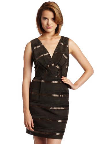 maxandcleo Women's Novelty Marine Dress, Brown, 12