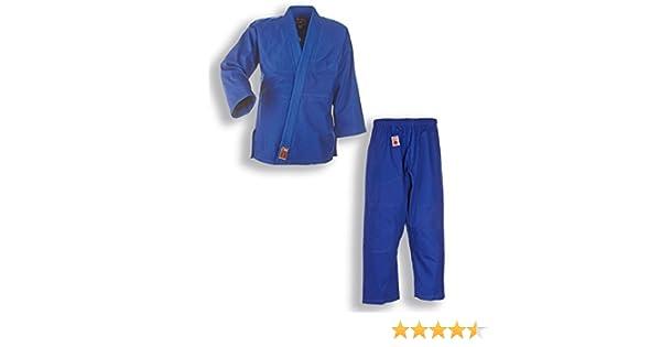Traje de Judo Judogi To Start Azul con Blanco Correa para niños y Principiantes, 9002, 110 – 200