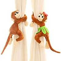 FUA® 1 Pair Children Room Nursery Naughty Play Monkey...