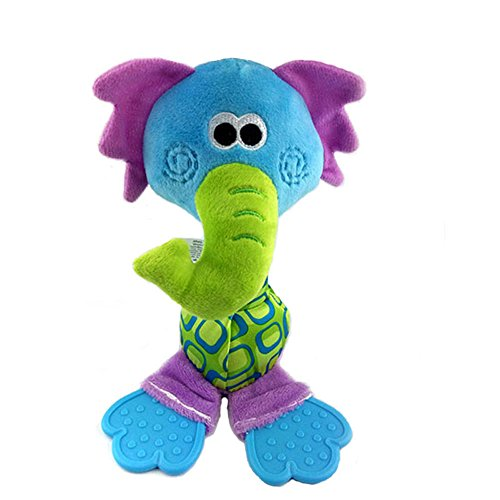 Baby Chime Infant Rattle (Baby Animal Teether Soothes Toy BPA Free)