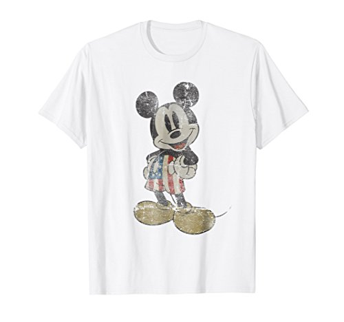 Vintage Americana T-shirt (Mens Disney Vintage Mickey Mouse)