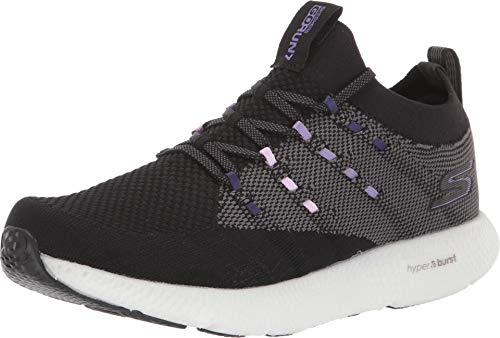Skechers Womens GOrun 7 Black/Purple Running Shoe - 7.5