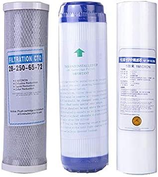 """2 Stück 10/"""" Aktivkohle Wasserfilter Einsatz PP 5 Micron Neu"""