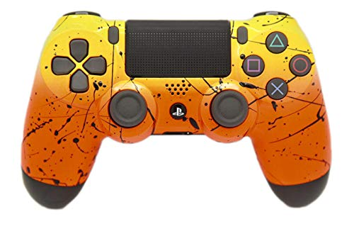 Hand Airbrushed Fade Playstation 4 Custom Controller (Yellow & Orange)