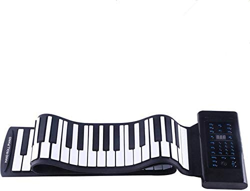 [해외]Roll Up Piano Flexible Collapsible Soft Silicon Easy To Pull Keyboard Piano 61 Thickening Button Electric Digital With Recording Programming Play Function USB MIDI Output Built-in Speaker Headphone Ja / Roll Up Piano Flexible Colla...