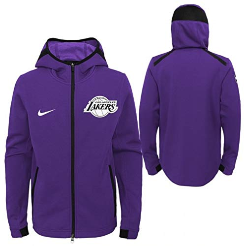 Nike Men's Los Angeles Lakers On-Court Dri-FIT Showtime Full-Zip Hoodie Purple Size - Lakers Los Court Angeles