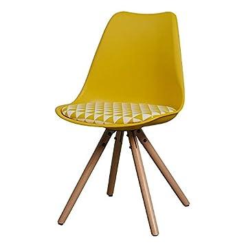 My-Furniture - Conjunto de 2 Reno Sillas Amarillas con Tri ...
